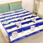 床之戀 貝貝絨立體紋路法蘭絨四季毯-可愛熊