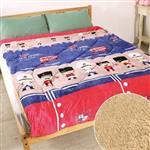 床之戀 複合式法蘭絨+羊羔絨超舒柔保暖厚被毯-英倫小小兵