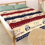 床之戀 複合式法蘭絨+羊羔絨超舒柔保暖厚被毯-慵懶聽音樂