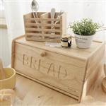 自然風 木製 麵包箱(實木門板)