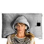 【Hoodie Pillow】連帽枕頭套 灰色