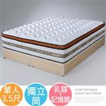 Yostyle 哈利三線記憶乳膠獨立筒床墊-單人3.5尺