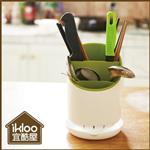 【ikloo】可拆卸式筷叉收納瀝水筒