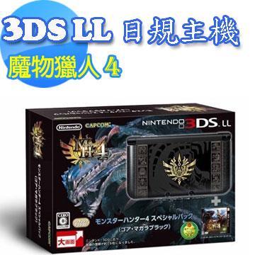 3DS LL 魔物獵人 4 同梱主機 (日規) - 哥亞.瑪卡拉黑