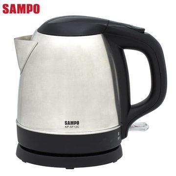 【SAMPO聲寶】1.2L上蓋不鏽鋼電茶壺 KP-SF12C