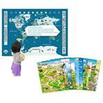 【智點 學習工場】中、英、日 三語點讀世界地圖認知百科+幼兒基礎認知海報系列