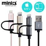 miniQ Lightning&Micro USB  充電傳輸線-1M