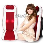 【健身大師】新一代全方位按摩師傅到你家按摩椅墊(按摩椅/按摩器)-熱情紅(二色)