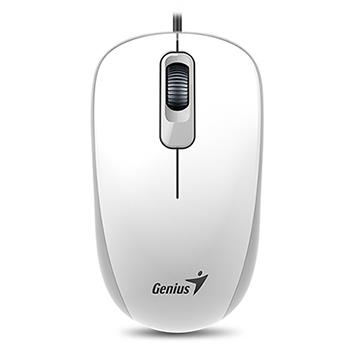 Genius 昆盈 DX-110有線滑鼠(優雅白)