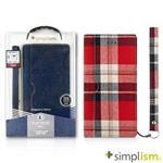 Simplism iPhone7 Plus 5.5吋用 記事本型側掀蓋翻布面保護套
