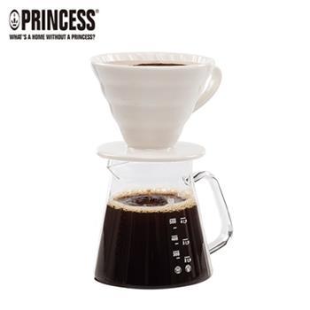 【Princess】荷蘭公主手沖陶瓷濾杯-咖啡壺組241100E