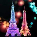 巨大巴黎艾菲爾鐵塔LED七彩發光桌面夜燈 擺飾^(25cm^)