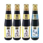 黑龍高純度黑豆蔭油+蒸魚蔭汁料理組(400mlx4瓶)
