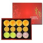 預購《皇覺》中秋限定系列-綻之月禮盒組12入裝(彩旋酥+廣式小月餅+綠豆椪)