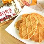 【進口零食】韓國OL最愛下午茶點心【CROWN】鮮奶油鬆餅(5入盒)