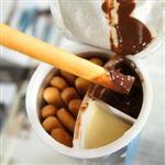 【進口零食】韓國小朋友最愛【海太】巧克力起司沾醬餅乾棒