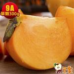 果之家 產地特選高山摩天嶺甜柿禮盒10台斤(9A,單顆8-9兩)
