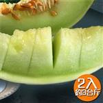 【果之家】台南七股白雪蜜世界洋香瓜哈蜜瓜2顆入禮盒