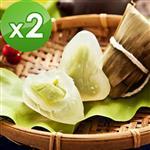 預購【樂活e棧 】-包心冰晶Q粽子-抹茶口味(6顆/包,共2包)