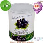 【自然時記】生機超大無籽葡萄乾6罐(375g/罐)