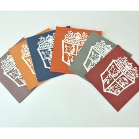 手工版畫卡片- HC-34-學院風動物徽章