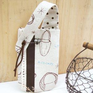 【臺灣喜佳】NCC拼布材料包-樂活悠閒-雜貨風手機袋