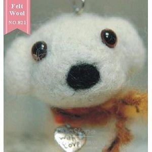 【羊玩藝】羊毛氈材料包-瑪爾濟斯手機吊飾(可作2隻)