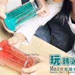趣味玩迷宮遊戲雙層水杯-綠