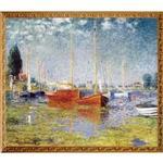 S0155莫內Monet~紅帆船~
