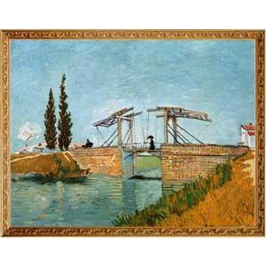 S0341梵谷Vincent「曳起橋與打傘女士」