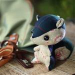 【彩虹森林】大松鼠可米吊飾鑰匙圈(京郊蔓玫瑰)