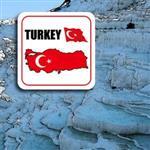 ~國旗 館~土耳其國旗領土抗UV、防水貼紙/Turkey/多國款式購