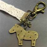 【輕靈之森】木馬古銅鑰匙圈‧復古療癒系