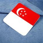 ~國旗 館~新加坡國旗方形抗UV、防水貼紙/Singapore/多國款