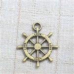 舵輪(20mm)古銅色配件‧輕靈之森手工療癒系
