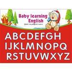 Christine寶貝學習牆貼/ABC學習/卡通牆貼(小) TEC008 可填色 聖誕小熊