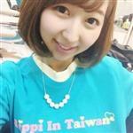 飯田里穗(Iida Riho)-台灣官方T恤(水藍S)