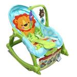 《 Fisher Price 費雪牌 》可愛動物可攜式兩用安撫躺椅