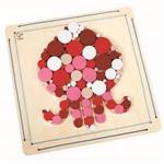 Hape 木製工藝系列-章魚木珠拼貼