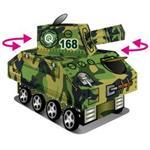 【Q可愛火車】真會跑工程車-可愛叢林小坦克