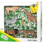 《MOJO FUN動物模型》禮盒-非洲動物六件組 (公獅+母獅+斑馬+長頸鹿+狐獴+獵豹)