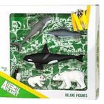《MOJO FUN動物模型》禮盒-海洋動物六件組(大白鯊+海豚+虎鯨+企鵝+北極熊+北極幼熊)