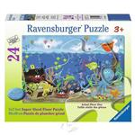 【德國Ravensburger拼圖】海底世界的珍寶-地板拼圖-24片Underwater Treasure