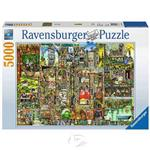 【德國Ravensburger拼圖】異想天開的奇異城市-5000片Skurrile Stadt