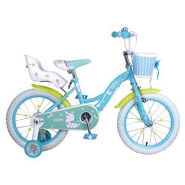 寶貝樂精選 艾比鹿腳踏車16吋充氣胎腳踏車-藍色