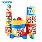 《 美國 B.toys 感統玩具 》Battat系列-大口疊疊杯 sort and stack