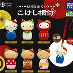 全套6款 凱蒂貓 HelloKitty 木製 扭蛋 吊飾 擺飾 TAKARA TOMYS