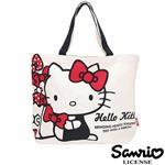 凱蒂貓 HelloKitty 帆布 大提袋 手提袋 肩背包 三麗鷗 Sanrio