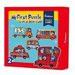 希臘MiDeer 幼兒六合一趣味拼圖-汽車款
