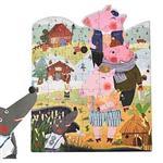 希臘MiDeer 兒童童話故事拼圖-三隻小豬